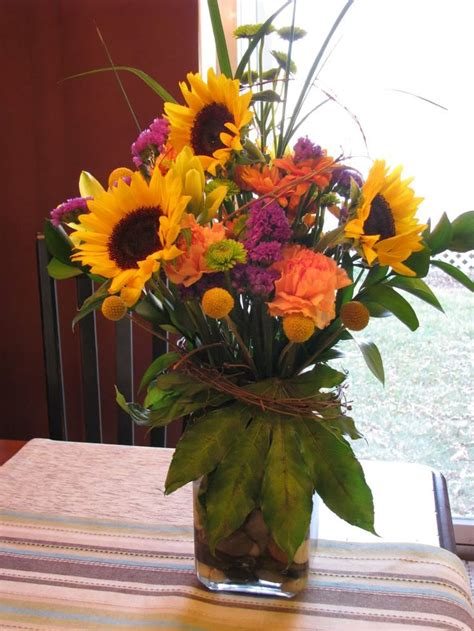 Sunflower Arrangements For Weddings by November Flower Arrangements For The Home 5th Generation