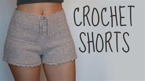 free pattern high waisted shorts crochet shorts high waisted shorts tutorial video