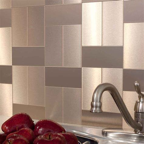 ultra modern metal backsplash tiles the homy design