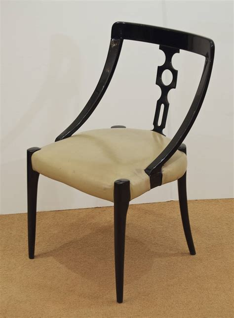 Black Lacquer Dining Room Chairs by Ten Black Lacquer Dining Room Chairs At 1stdibs