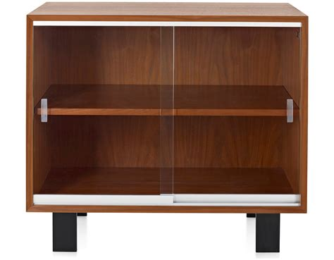Cabinet Doors Glass Nelson Basic Cabinet With Glass Sliding Doors Hivemodern