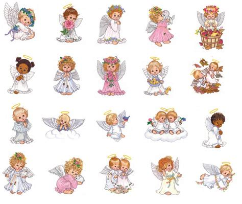 embroidery design angel watercolor angels embroidery designs pes jef hus by