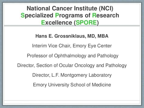 Mba In National Labs by Emory Eye Tumor Spore Update Robin Noe Md