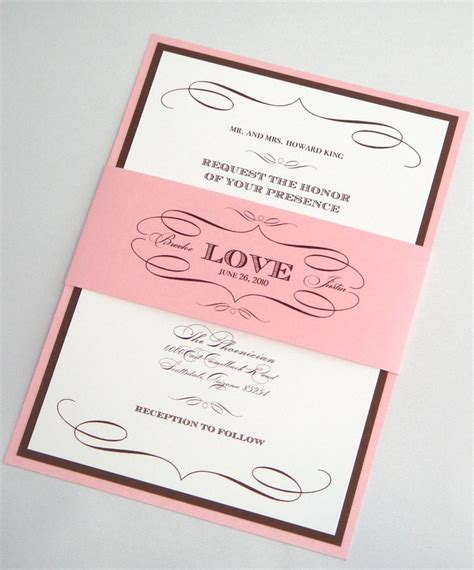 light pink and brown wedding invitations 112 beste afbeeldingen wedding invitations elegante