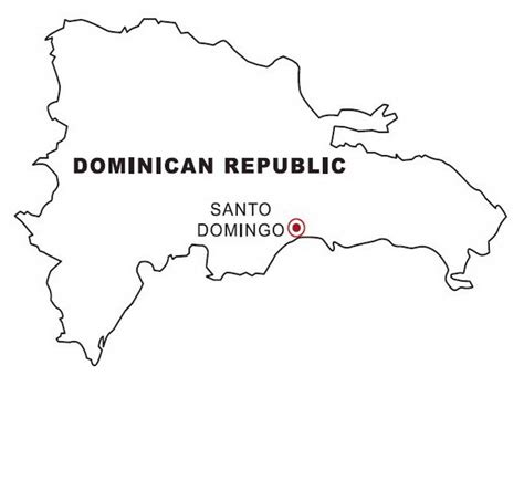dominican republic map coloring color area