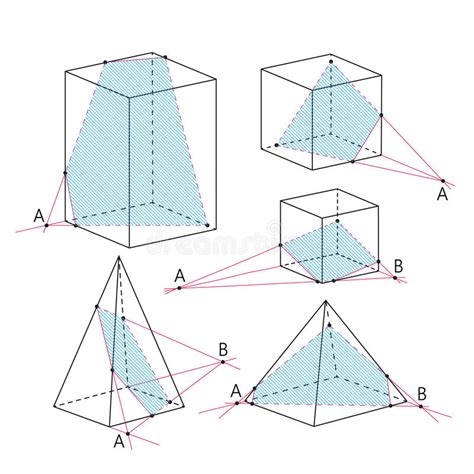 section formula vectors math picture sections of polyhedra geometry background