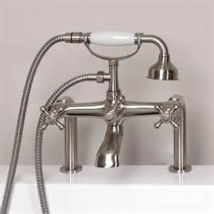 Shower And Bath Fixtures Vera Deck Mount Tub Faucet And Hand Shower Bathroom