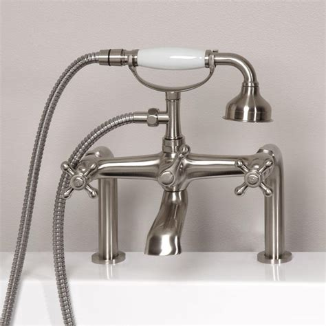 bathtub faucet with shower vera deck mount tub faucet and hand shower bathroom