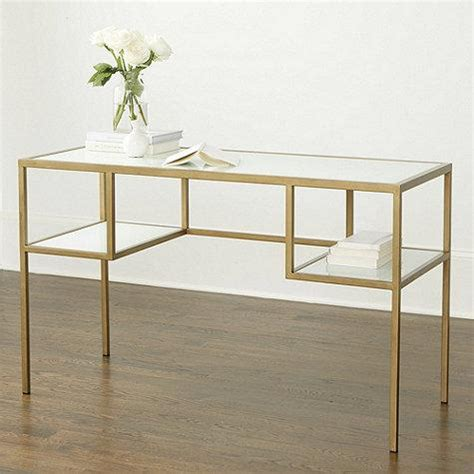 Glass White Desk by White Glass Antique Gold Frame Desk