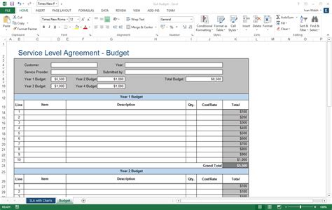 service level agreement template 2 ms word 3 free excel