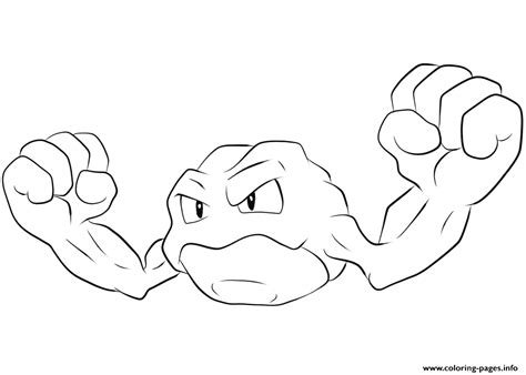 Pokemon Coloring Pages Geodude | 074 geodude pokemon coloring pages printable