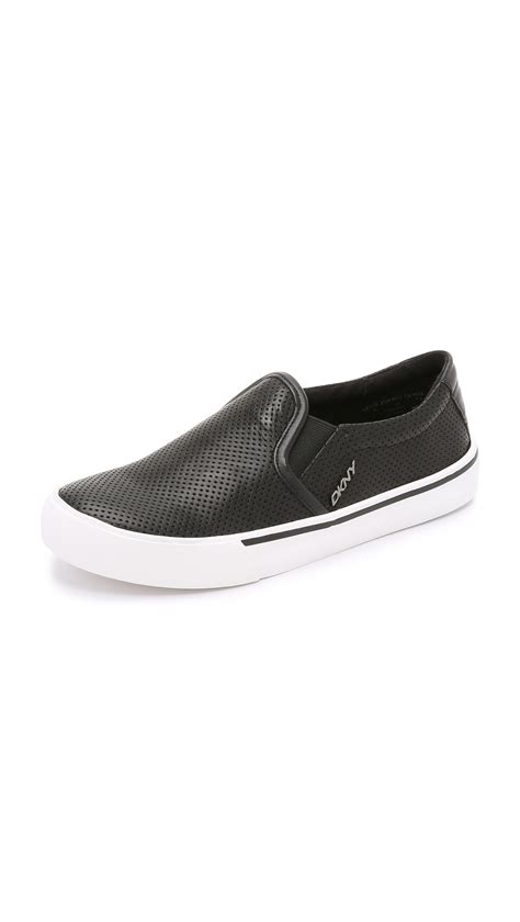 sneakers on dkny bess slip on sneakers black in black lyst