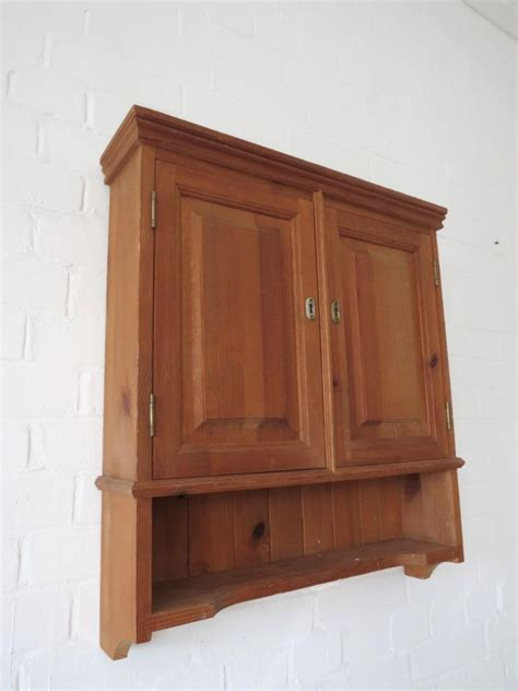 vintage bathroom pine wall cabinet