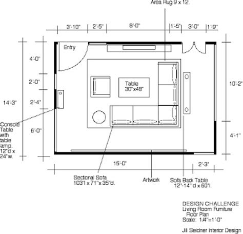 Living Room Floor Plans by Seidner Interior Design Winner Design Challenge
