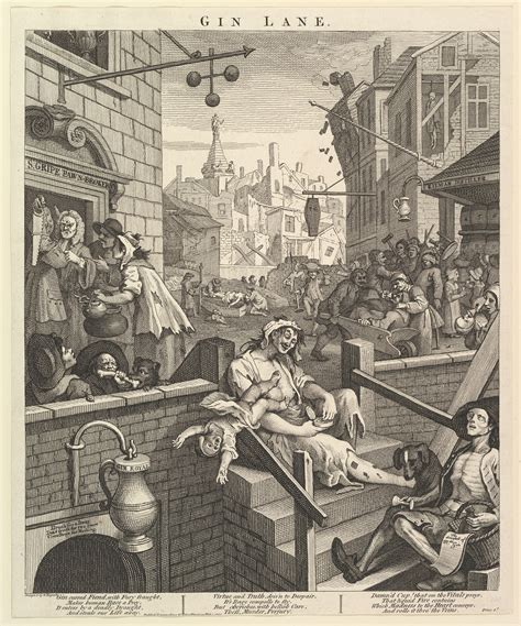 william hogarth gin lane  met