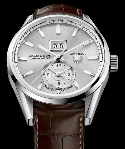 Tag Heuer Calibre 8 Silver Brown Leather tag heuer calibre 8 gmt the home of tag heuer