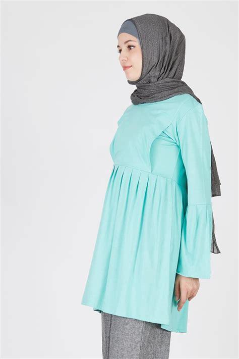 Sale Mamigaya Nursing Wear Adelia Baju Menyusui Baju Asi sell sall hijau mint nursing wear tops hijabenka