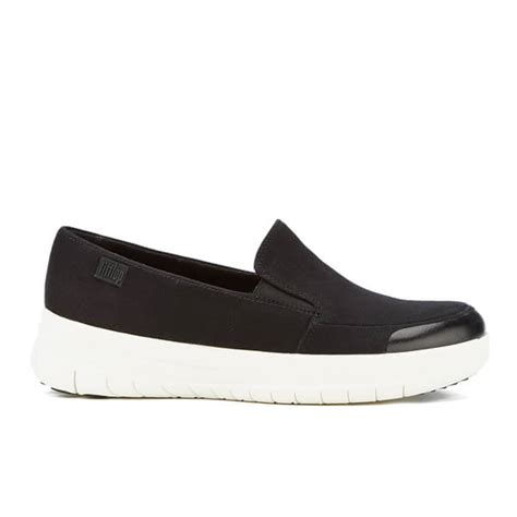 Shereni Sporty Slip On fitflop s sporty pop canvas skate slip on trainers black free uk delivery allsole