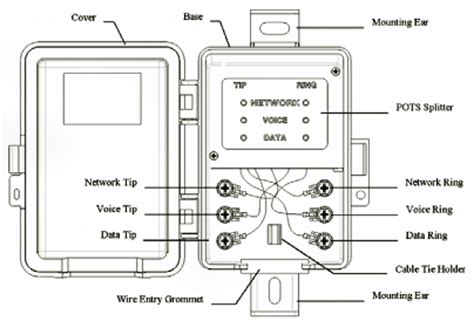 diagram free wiring schematic on dsl splitter