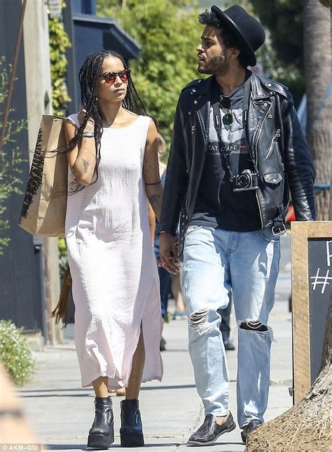 zoe kravitz exhibits trademark kooky style with boyfriend