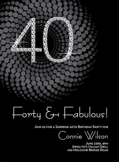 40th birthday invitation exle 8 40th birthday invitations ideas and themes sle