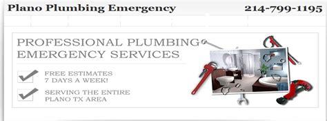 Plumbing Services Plano Tx by Plano Plumbing Emergency