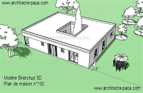plan de maison avec patio central plan maison avec patio de 5 pi 232 ces 177 129 m 178 d architecte