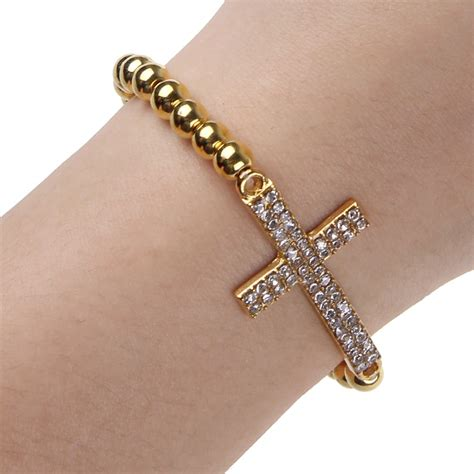 beaded cross bracelet fashion bracelet rhinestone cross infinity