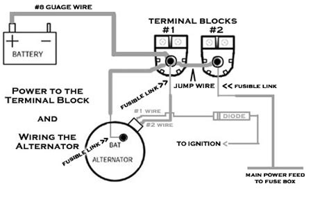 alternator to battery wiring diagram efcaviation