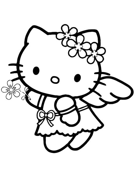 hello kitty angel coloring pages drawing of hello kitty az coloring pages