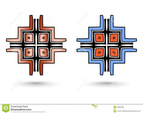 two abstract inca cross stock illustration image 40903352