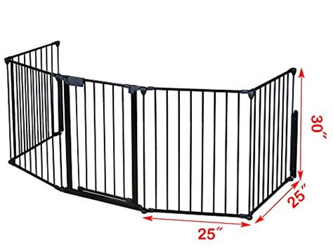 tms baby safety fence hearth gate bbq metal gate
