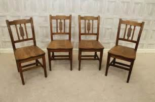 Oak kitchen chairs set of four antique chairs in solid oak edwardian