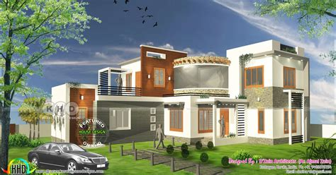 1800 square floor 4 bhk modern home design 4 bhk modern contemporary home 1800 square kerala home design and floor plans