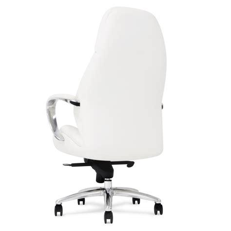 white rolling desk chair gates genuine leather aluminum base high back executive