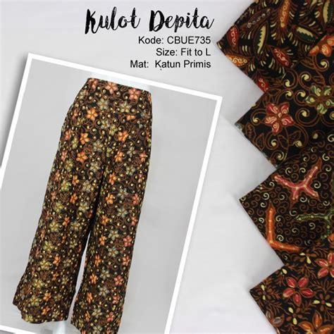 Katun Colet 3 Negeri celana kulot colet motif godhong warna celana rok muslim murah batikunik