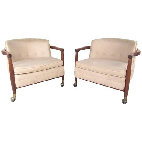 Unique Armchairs Design Ideas Stylish Pair Of Vintage Modern Rolling Armchairs For Sale At 1stdibs
