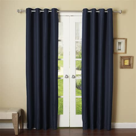 navy blue grommet curtains navy blue 2 panels grommet thermal insulated blackout