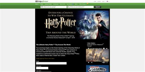 Harry Potter Sweepstakes - trip advisor the wizarding world of harry potter sweepstakes
