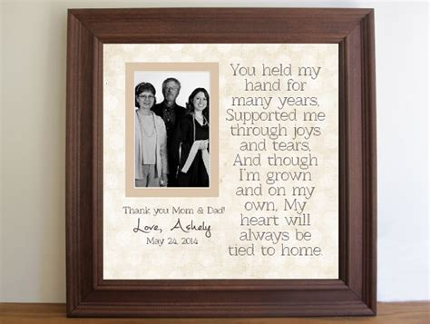 thank you letter to parents on graduation day graduation custom picture frame for parents graduation