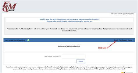 reset regions online banking f m bank online banking login login bank