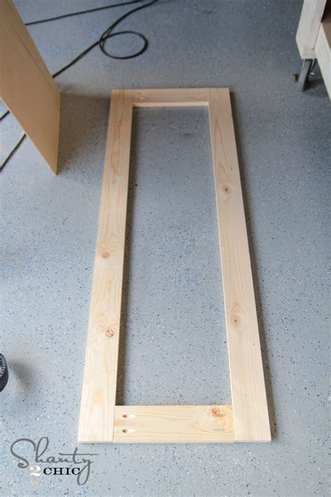 attaching the frame to your mirror diy rustic full length mirrors shanty 2 chic