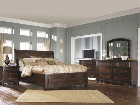 ashley porter king bedroom set best furniture mentor oh furniture store ashley