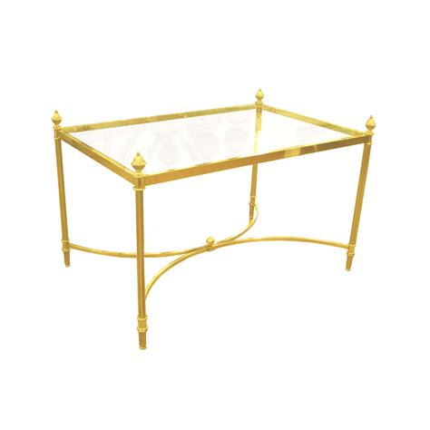 Glass End Table With L by Brass And Glass Side Table With Acorn Finials Side End