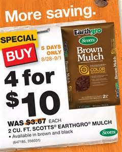 price of mulch at home depot home depot mulch for 2 50 and more my frugal adventures