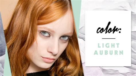 light auburn hair color pictures a hair color chart for every shade imaginable stylecaster