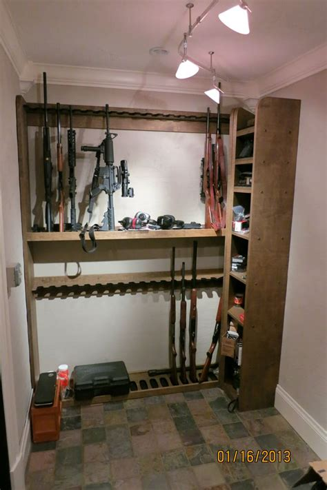 double level vertical gun rack  storage shelves