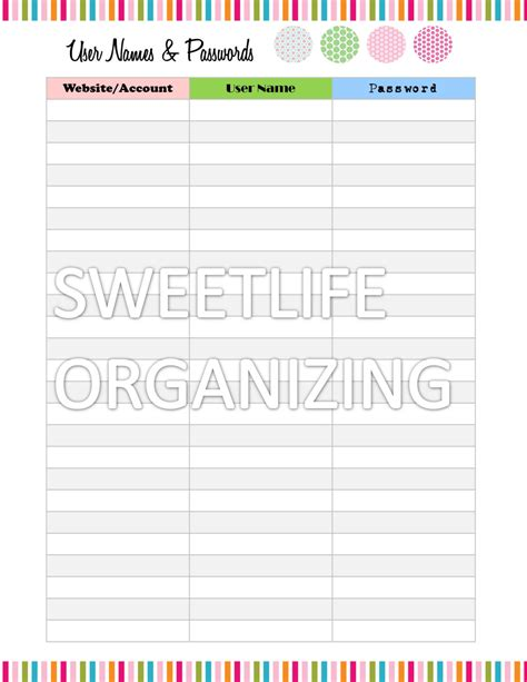 username and password template 9 best images of printable username and password template
