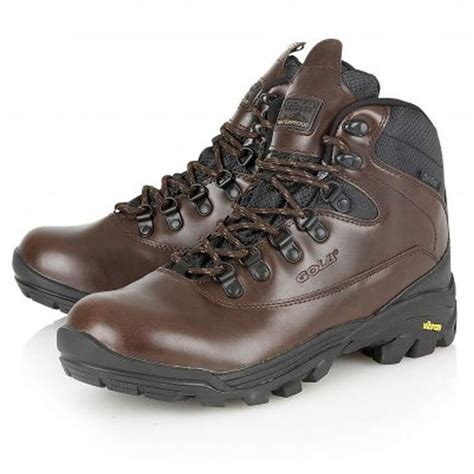mens gola leather walking hiking waterproof trekking