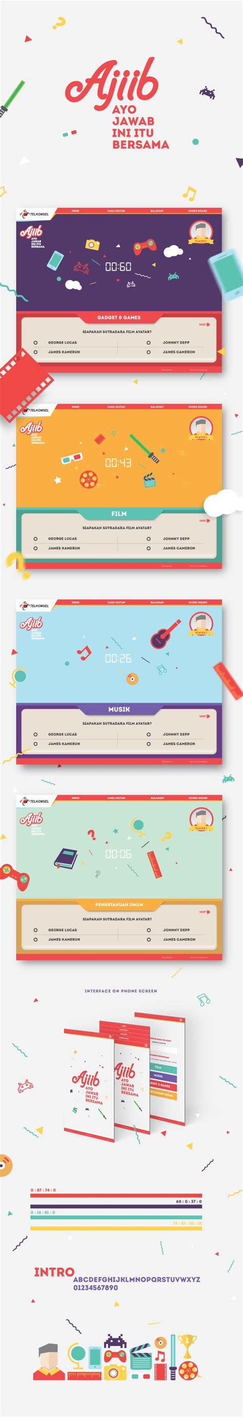 game design quiz ajiib quiz games on behance design b m pinterest